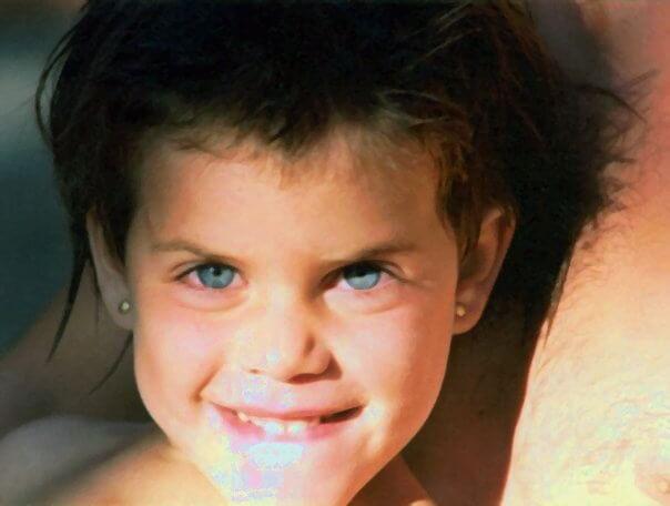 Annabel Almagro cuando era una niña
