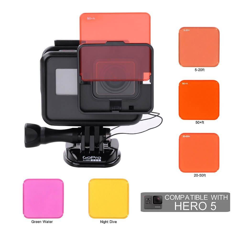 Filtros de colores en video y foto submarina para GoPro.