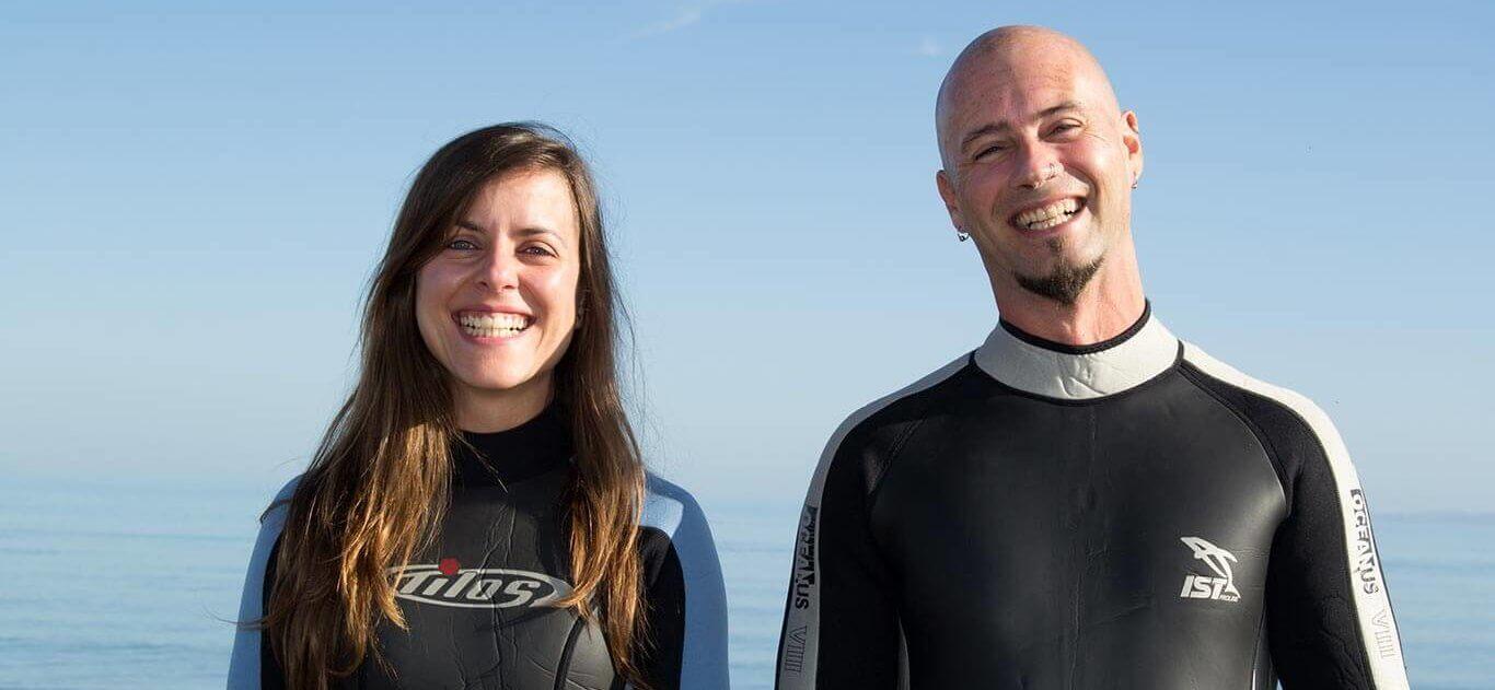 Efra y Annabel, acerca de Viajar Buceando