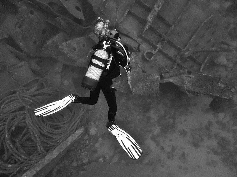 Fotografía submarina, efectos artísticos.