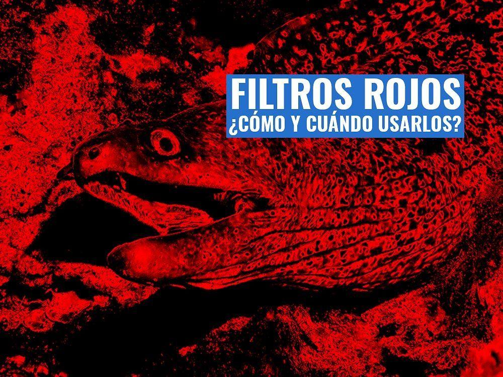filtros rojos video y fotografía submarina