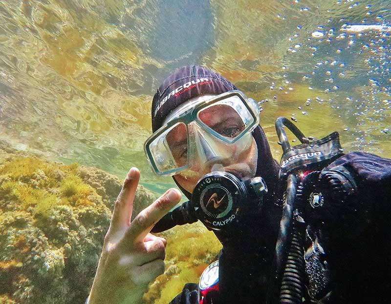 primera inmersion de buceo efra