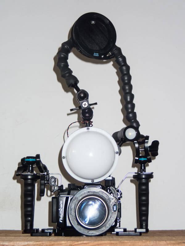 iluminacion en fotografia submarina colocacion flash macro
