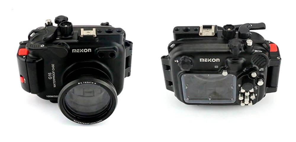 carcasa de aluminio Meikon para Canon G16 equipo fotosub