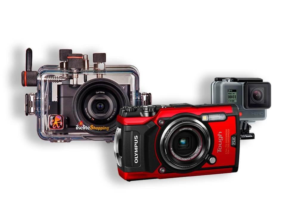 equipo de fotografia submarina tipos de camara