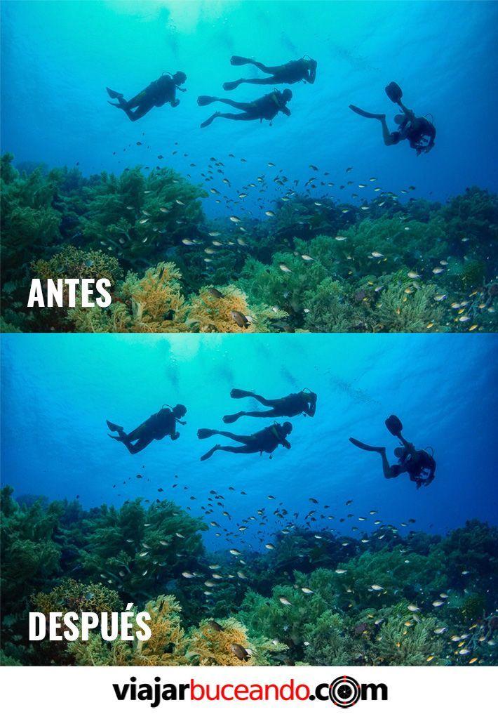 como hacer retoque fotografias submarinas
