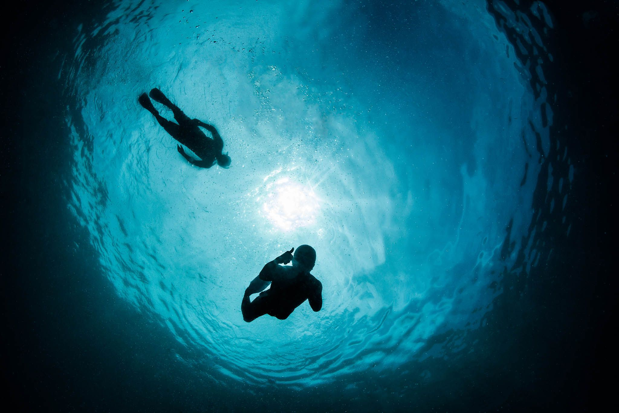 fotografia submarina con luz ambiente ejemplo