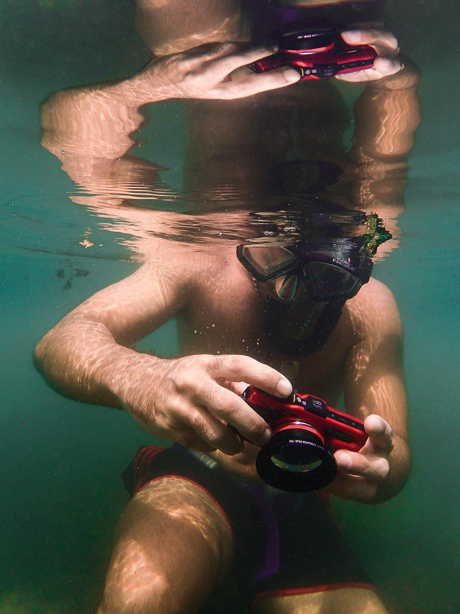 fotografia submarina con luz ambiente viajarbuceando.com ejemplo
