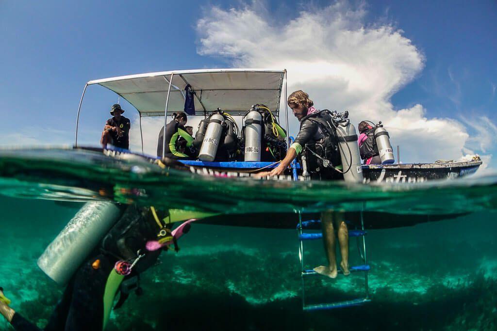 mergiendo de una inmersión de Bohol