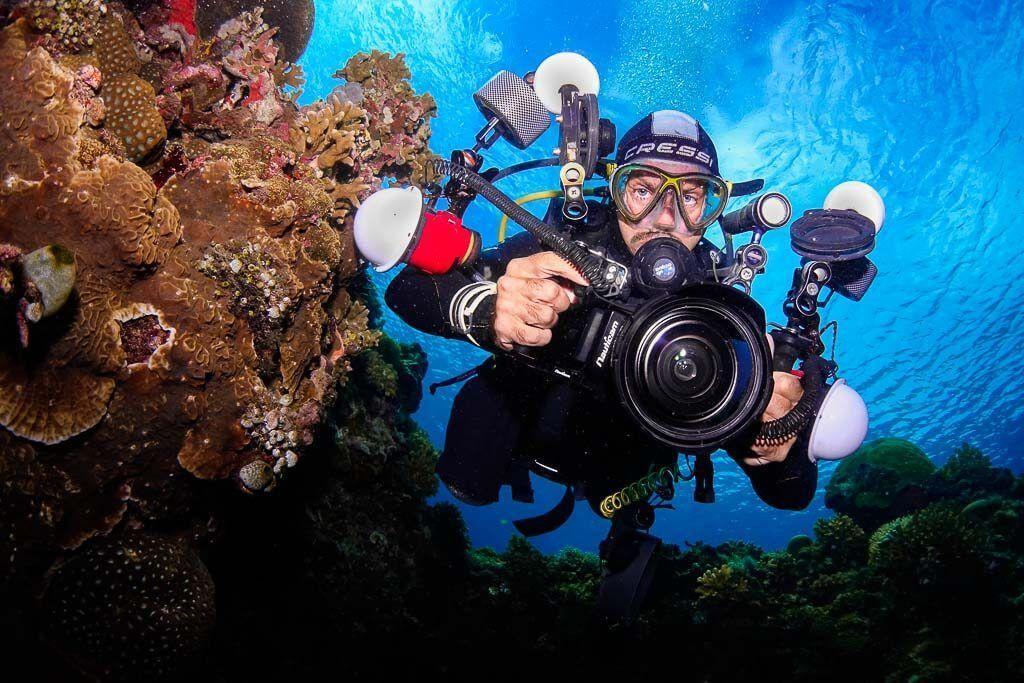 fotografía submarina en Bohol