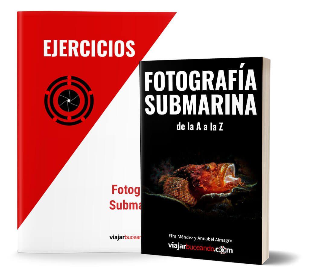 libro fotosub y ebook ejercicios fotografia submarina