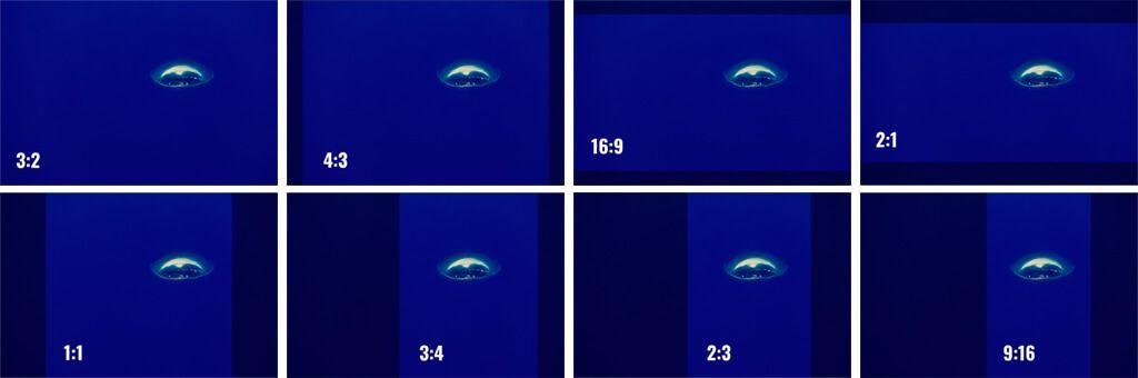 Relaciones de aspecto del encuadre en la fotografía submarina