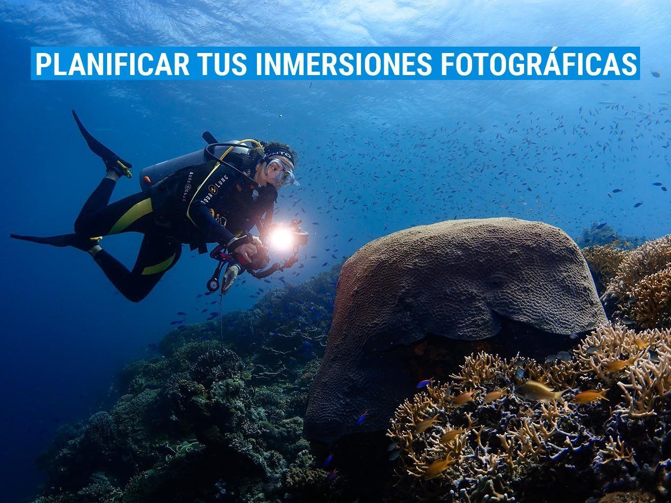 planificar inmersiones fotográficas
