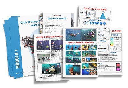 guias plantillas recursos del curso de foto submarina