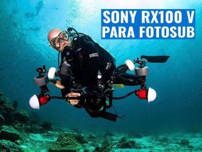 SONY RX100 V para fotografía submarina